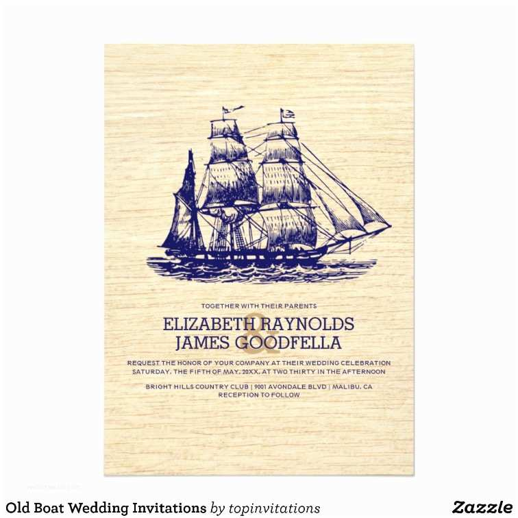 Yacht Wedding Invitation Wording Old Boat Wedding Invitations