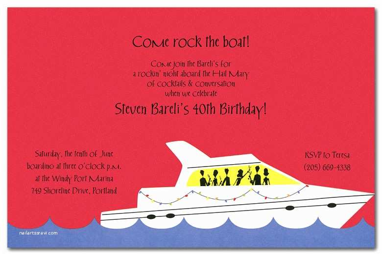 Yacht Wedding Invitation Wording Party Yacht by Invitation Consultants In 1 1405