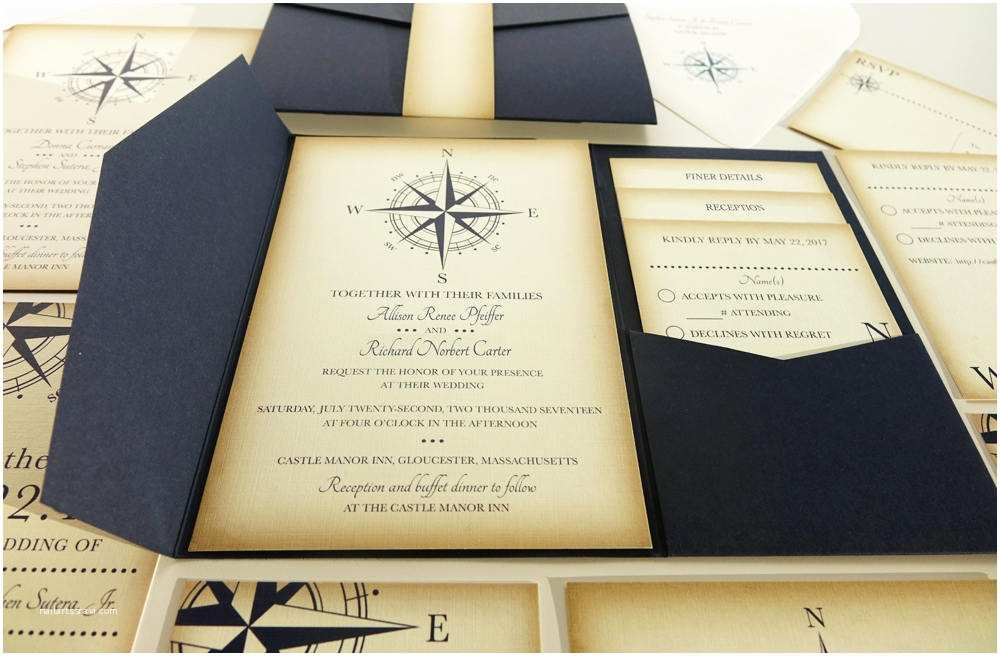 Yacht Wedding Invitation Wording Vintage Pass Wedding Invitation Navy Blue Nautical Blue