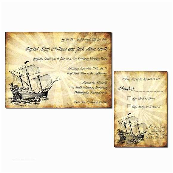 Yacht Wedding Invitation Wording Vintage Pirate themed Weddi