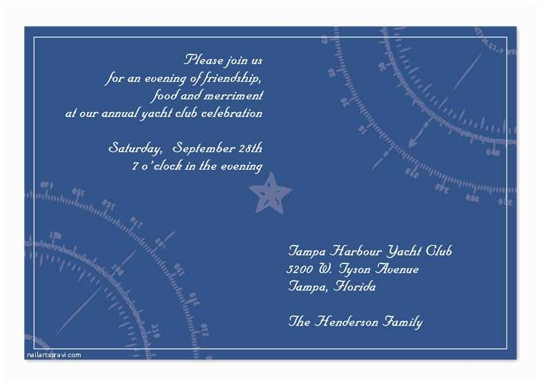 Yacht Wedding Invitation Wording Yacht Club Corporate Invitations by Invitation