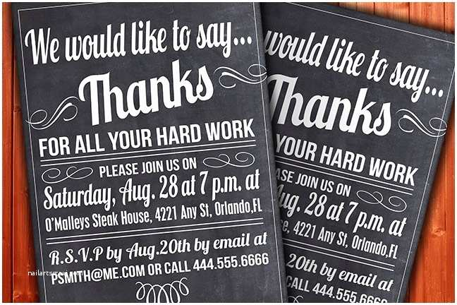 Year End Party Invitation Templates Custom Thank You Invitation Business Function or Party