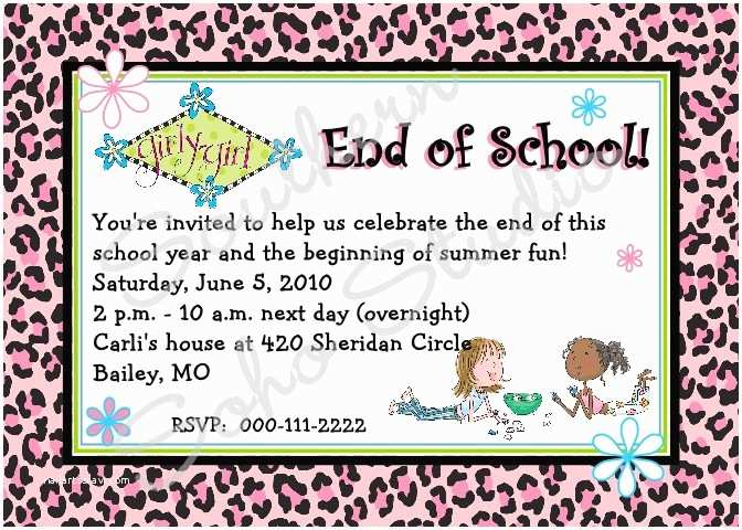 Year End Party Invitation Templates End Of School Year Party Clip Art 72