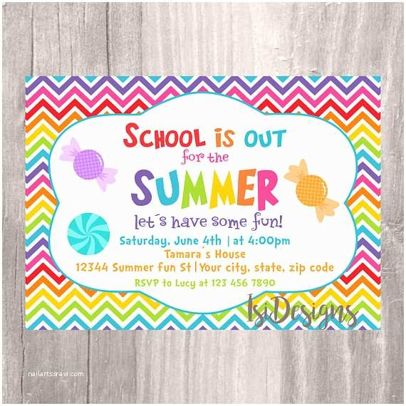 Year End Party Invitation Templates End Of the Year Party Invitation Summer Party School S