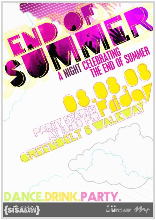 Year End Party Invitation Templates End Summer Party Invitations