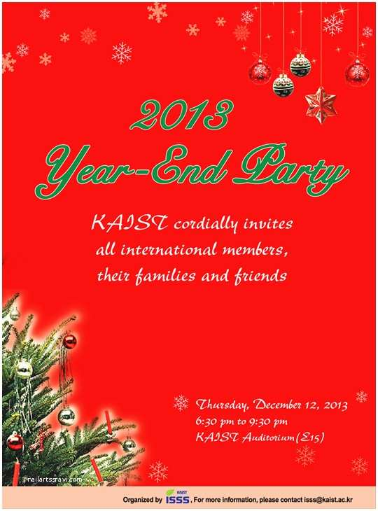 Year End Party Invitation Templates Kaist