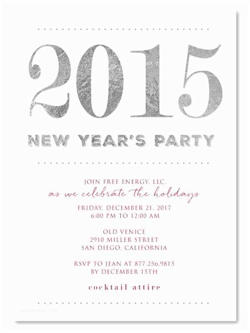 Year End Party Invitation Templates New Year Party Invitation Email to Employees – Merry