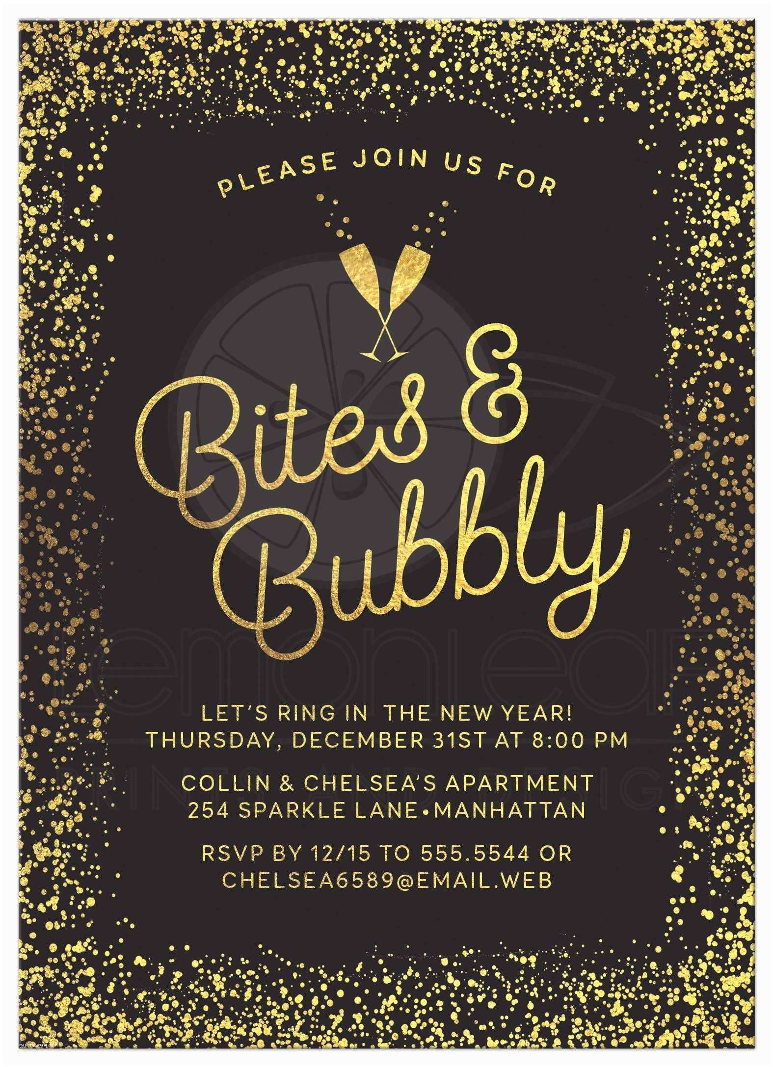 Year End Party Invitation Templates New Years Eve Party Invitations