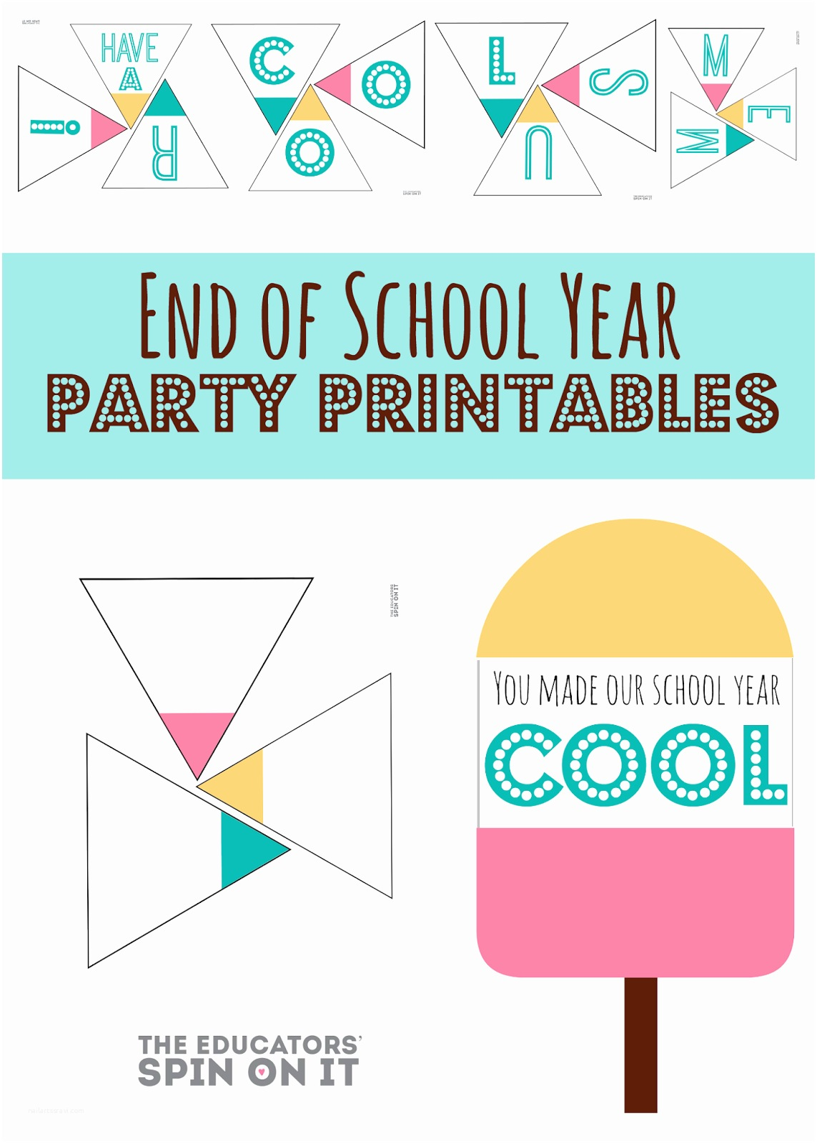 Year End Party Invitation Templates the Educators Spin It End Of School Year Party Idea