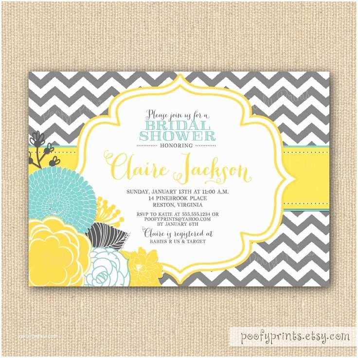 Yellow and Gray Baby Shower Invitations Gray and Yellow Chevron Baby Shower Invitations