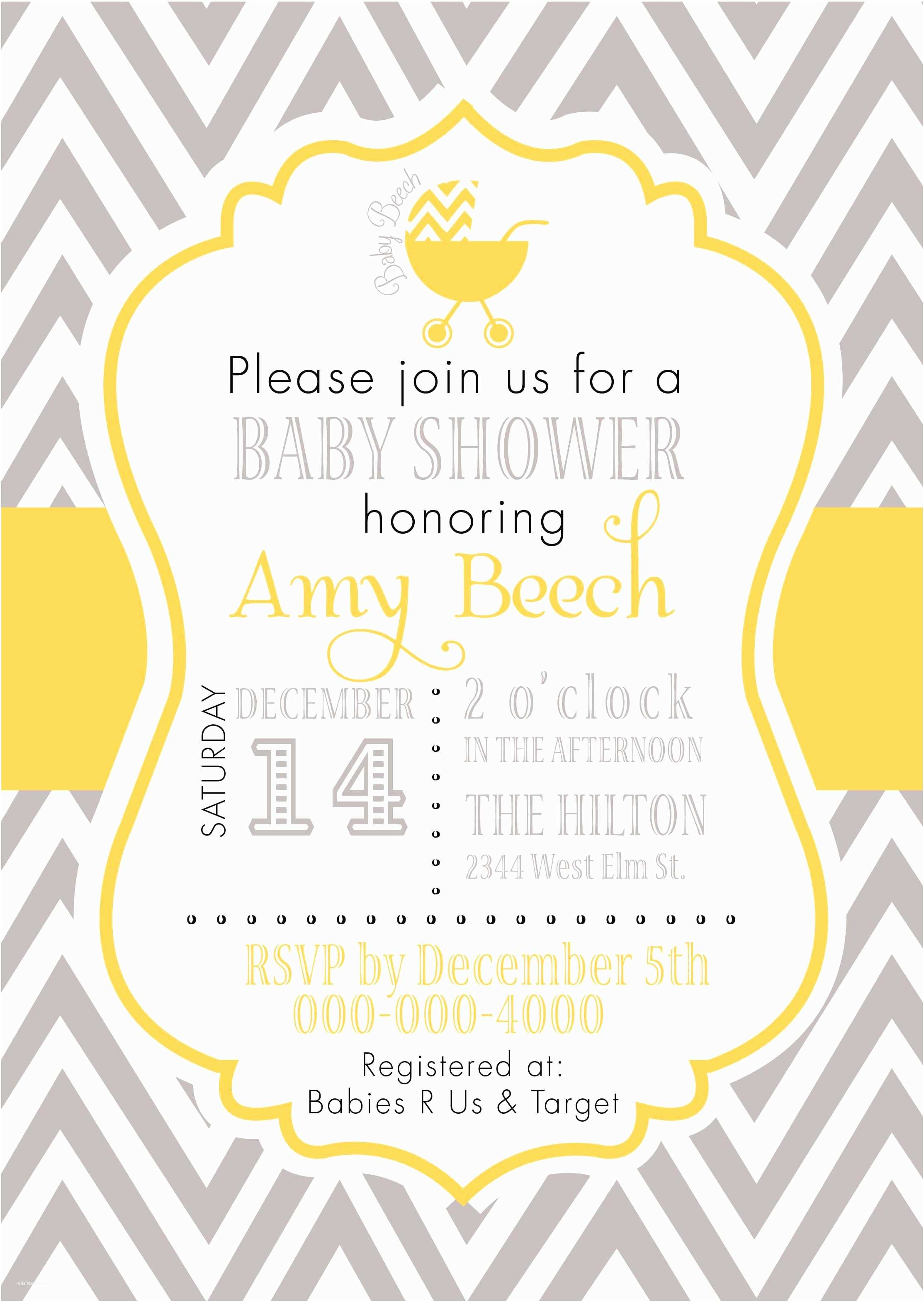 Yellow and Gray Baby Shower Invitations Grey and Yellow Baby Shower Invitations Google Search