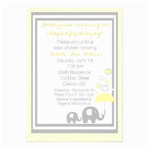 Yellow and Gray Baby Shower Invitations Yellow Baby Shower Invitations