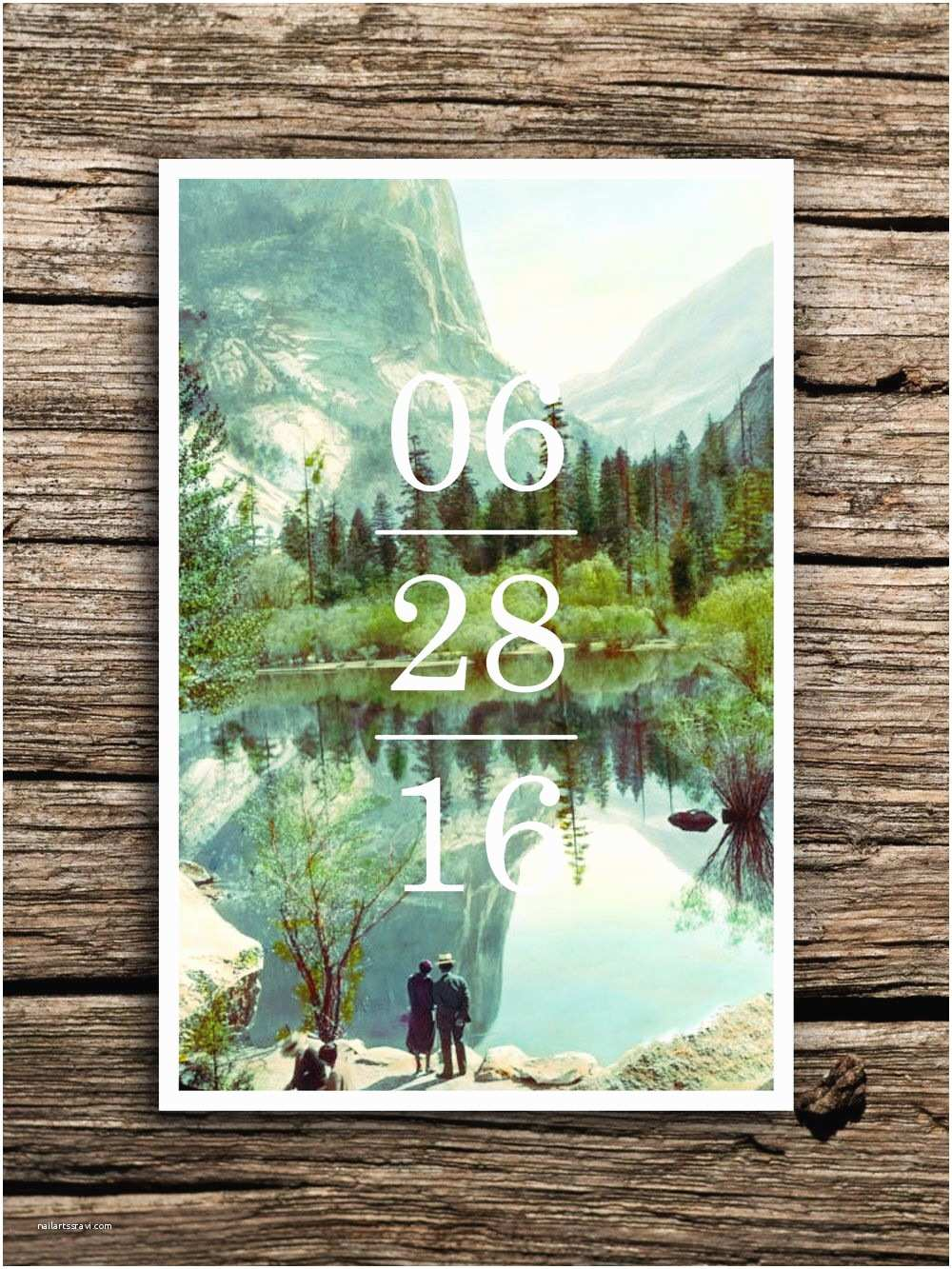Yosemite Wedding Invitations Yosemite Save the Date Postcard Yosemite National Park