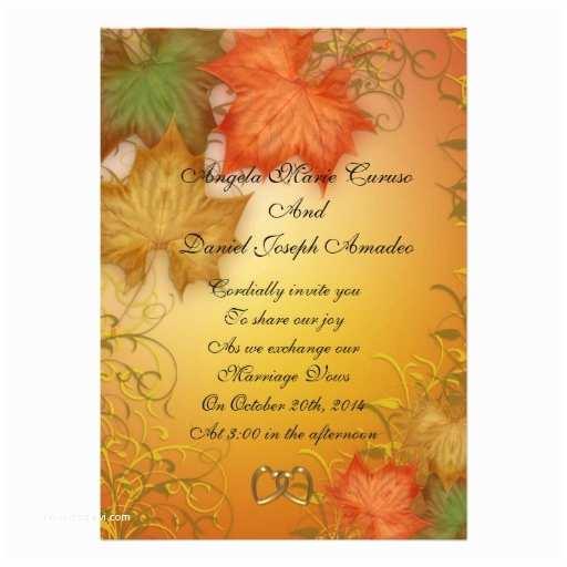Zazzle Com Wedding Invitations Autumn Leaves Fall Wedding Invitation