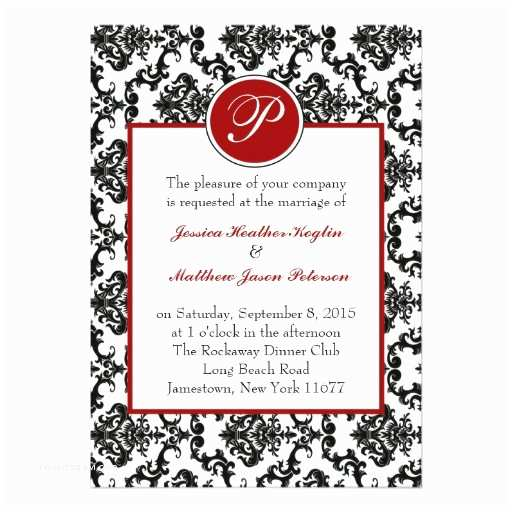 Zazzle Com Wedding Invitations Damask Monogram Wedding Invitation