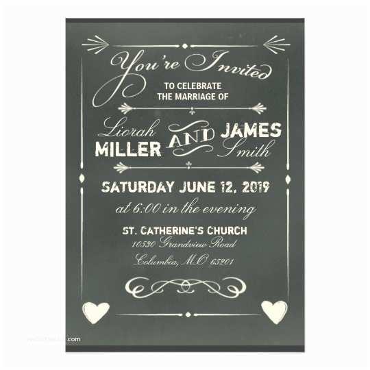 Zazzle Com Wedding Invitations Dark Gray Chalkboard Wedding Invitation with Heart