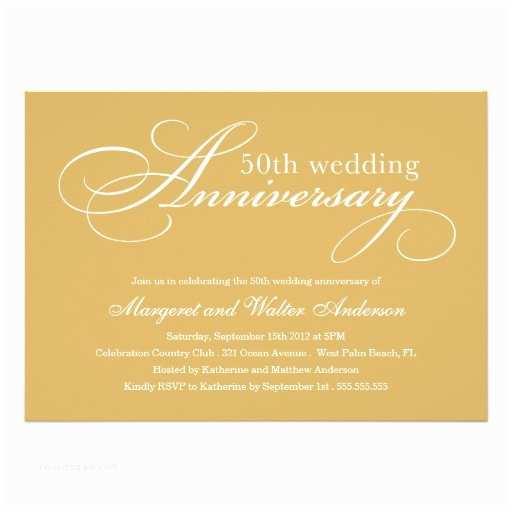 Zazzle Com Wedding Invitations Elegant 50th