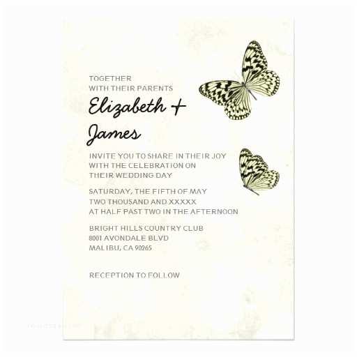 Zazzle Com Wedding Invitations Elegant butterfly Wedding Invitations
