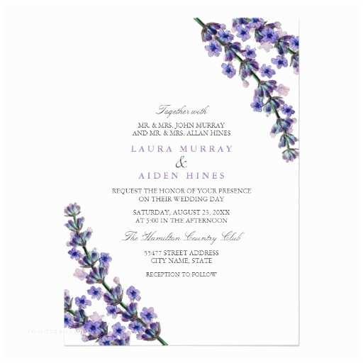 Zazzle Com Wedding Invitations Elegant Lavender Wedding Invitation