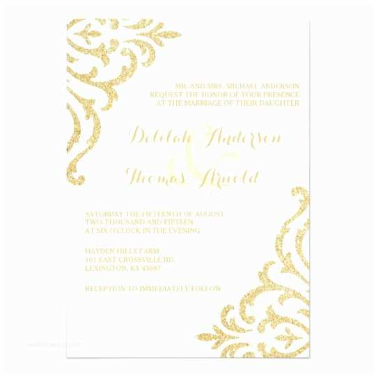 Zazzle Com Wedding Invitations Gold Vintage Glamour Elegance Wedding Invitation