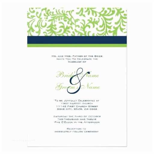 Zazzle Com Wedding Invitations Green and Blue Wedding Invitation