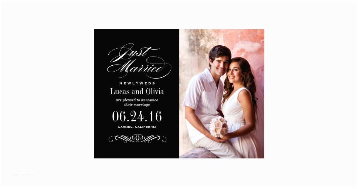 Zazzle Com Wedding Invitations Just Married Wedding Announcements