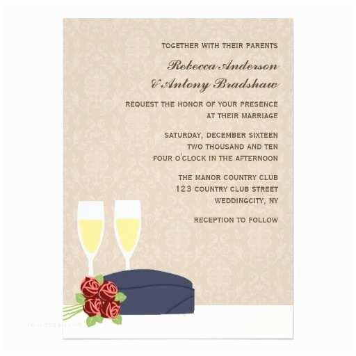 "Zazzle Com Wedding Invitations Military Wedding Invitations 5"" X 7"" Invitation Card"