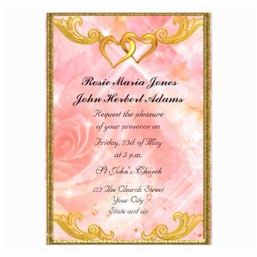 Zazzle Com Wedding Invitations Pink Elegant Simple Wedding Invitation