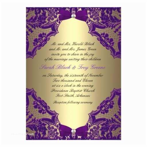 Zazzle Com Wedding Invitations Purple and Gold Wedding Invitation