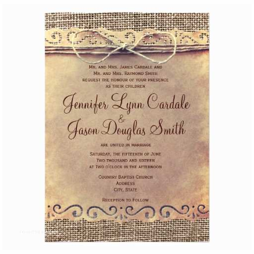 Zazzle Com Wedding Invitations Rustic Country Vintage Burlap Wedding Invitations