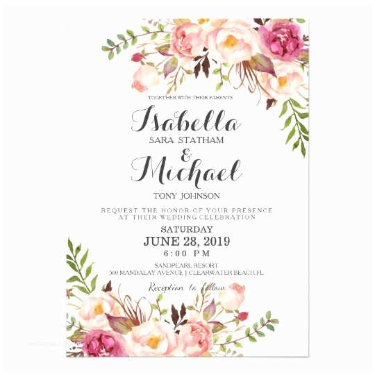 Zazzle Com Wedding Invitations Rustic Floral Wedding Invitation