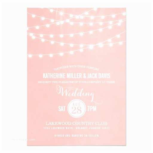 Zazzle Com Wedding Invitations Summer String Lights Wedding Invitation