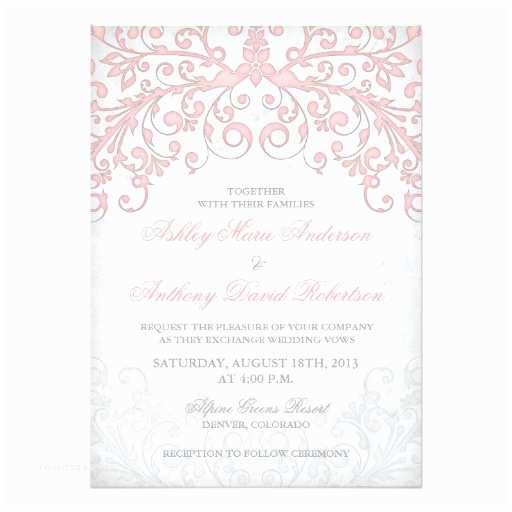 Zazzle Com Wedding Invitations Vintage Blush Pink Grey Floral Wedding Invitation