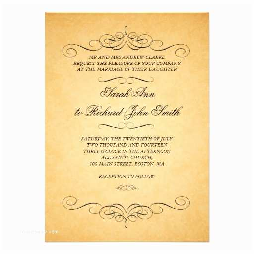 vintage wedding invitations swirls flourish