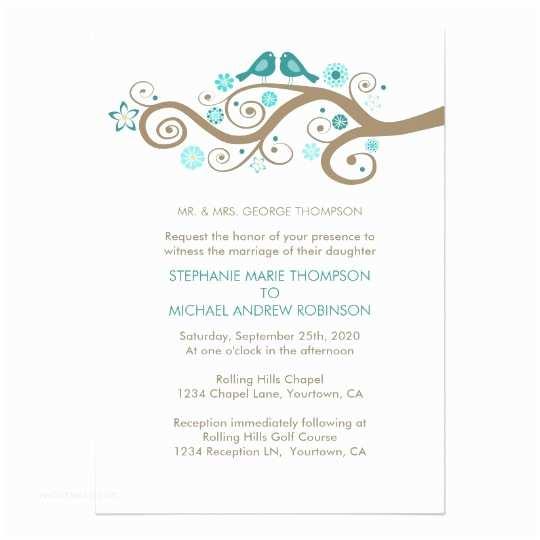 Zazzle Com Wedding Invitations Whimsical Love Birds Wedding Invitation