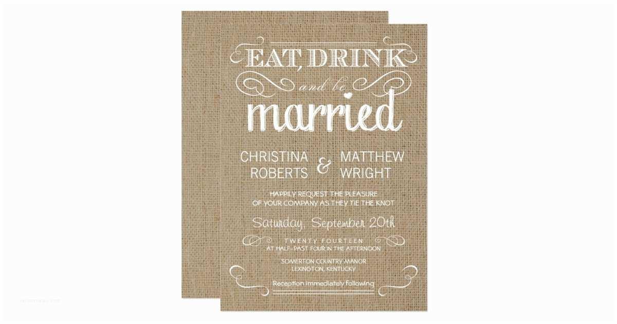 Zazzle Rustic Wedding Invitations Burlap Rustic Country Wedding Invitations