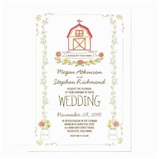 Zazzle Rustic Wedding Invitations Rustic Barn Wedding Invitations