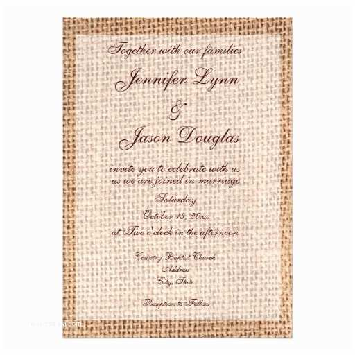 Zazzle Rustic Wedding Invitations Rustic Country Burlap Wedding Invitations