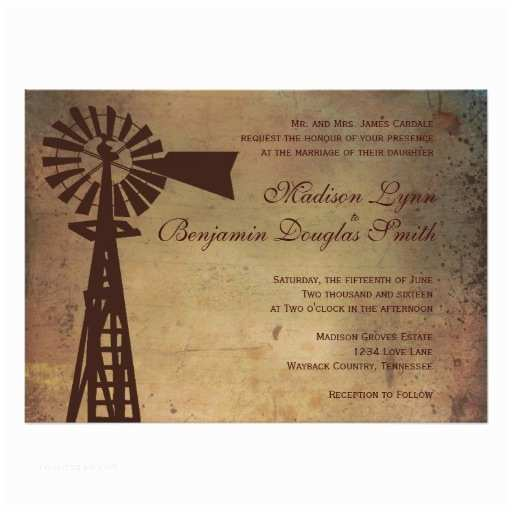 Zazzle Rustic Wedding Invitations Rustic Country Windmill Farm Wedding Invitations