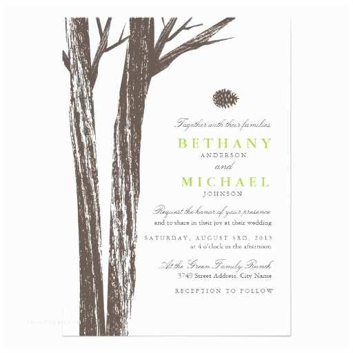 Zazzle Rustic Wedding Invitations Rustic forest Wedding Invitation