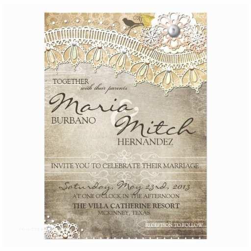 Zazzle Wedding Invitations.Zazzle Rustic Wedding Invitations Rustic Lace Distressed Wedding
