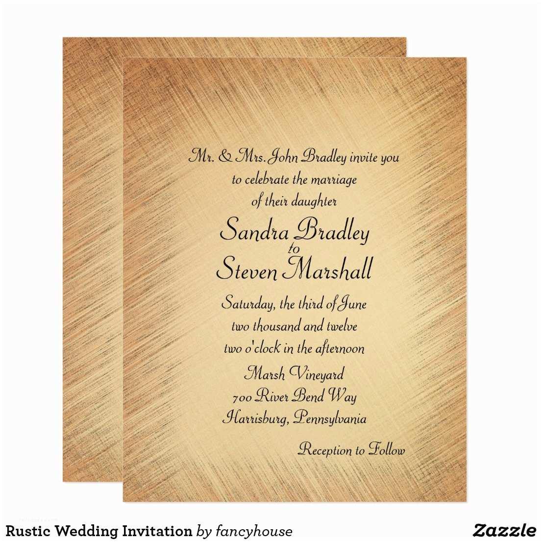 Zazzle Rustic Wedding Invitations Rustic Wedding Invitation Zazzle