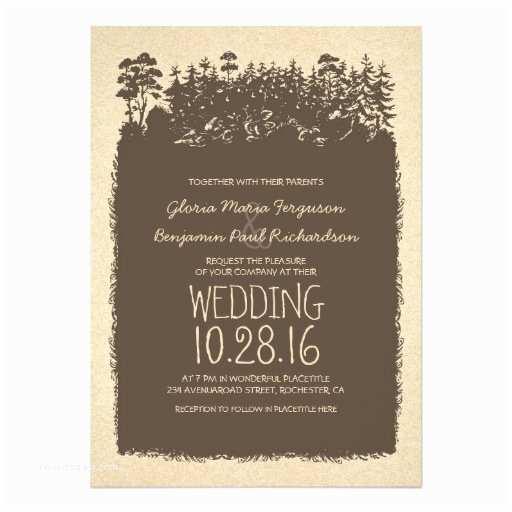 Zazzle Rustic Wedding Invitations Rustic Woodland Wedding Invitations