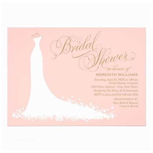 Zazzle Wedding Invitations Bridal Shower Invitation Elegant Wedding Gown