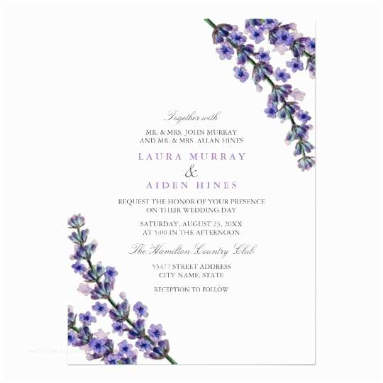Zazzle Wedding Invitations Elegant Lavender Wedding Invitation