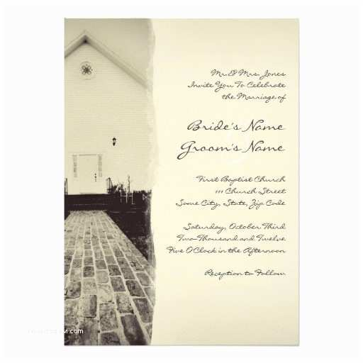 Zazzle Wedding Invitations Old Church Vintage Wedding Invitation 5x7