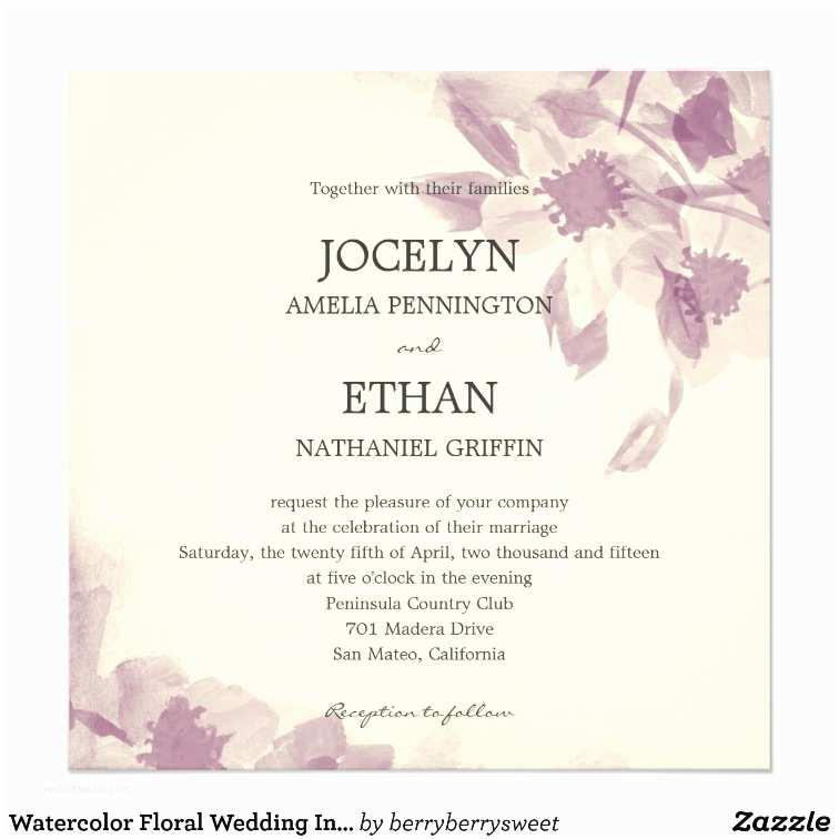 Zazzle Wedding Invitations Watercolor Floral Wedding Invitation