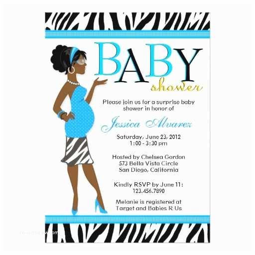 Zebra Baby Shower Invitations Chic Glam Modern Mom Blue Zebra Baby Shower Custom Invitations