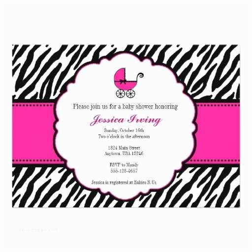 Zebra Baby Shower Invitations Zebra Baby Shower Invitations
