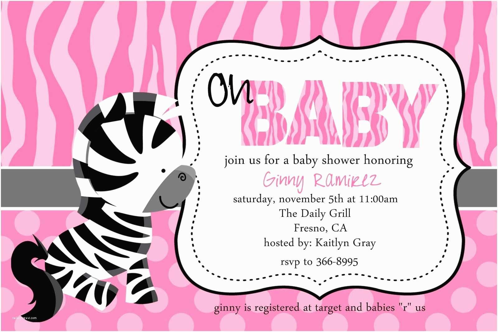 Zebra Baby Shower Invitations Zebra Baby Shower Invitations Template